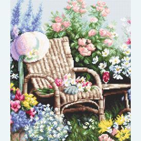 Blooming Garden - borduurpakket met telpatroon Luca-S |  | Artikelnummer: luca-b2344