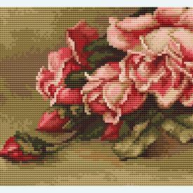 Basket with Roses - kruissteekpakket met telpatroon Luca-S |  | Artikelnummer: luca-b483