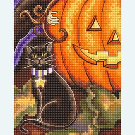 Pumpkin Girl - borduurpakket met telpatroon Letistitch |  | Artikelnummer: leti-992