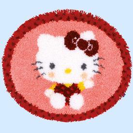 Hello Kitty - knooptapijt Vervaco  | Smyrna tapijt met Hello Kitty  | Artikelnummer: vvc-154948