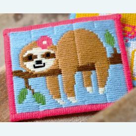 Sweet Sloth - Vervaco borduurpakket in platsteek, voor kinderen |  | Artikelnummer: vvc-178725