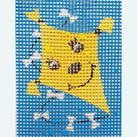 Kite - halve kruissteekpakket Vervaco   Handwerkpakket voor kinderen, te borduren op geschilderd stramien, in halve kruissteek    Artikelnummer: vvc-2544