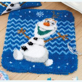 Olaf - Frozen - Disney - knooptapijt Vervaco | Smyrna tapijt met Olaf uit Frozen van Disney | Artikelnummer: vvc-166274