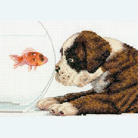 Dog Bowl - borduurpakket met telpatroon Dimensions |  | Artikelnummer: dim-70-65169