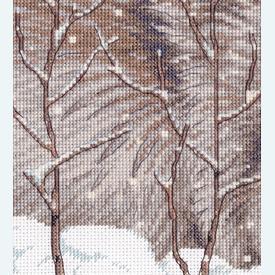 Snow Daze - borduurpakket met telpatroon Dimensions |  | Artikelnummer: dim-70-35377