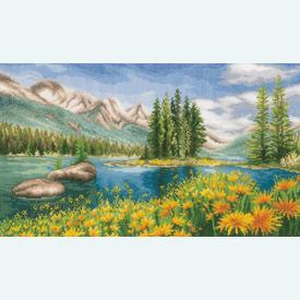 Mountain Landscape - borduurpakket met telpatroon Vervaco |  | Artikelnummer: vvc-174811