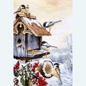 Bird House - borduurpakket met telpatroon Luca-S |  | Artikelnummer: luca-bu4021