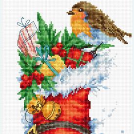 Christmas Boot - borduurpakket met telpatroon Luca-S  |  | Artikelnummer: luca-b2310