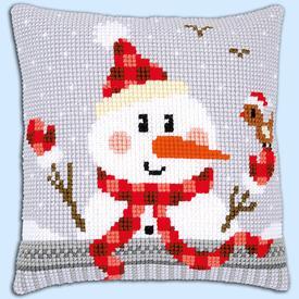 Snowman - Vervaco Kruissteekkussen |  | Artikelnummer: vvc-168751