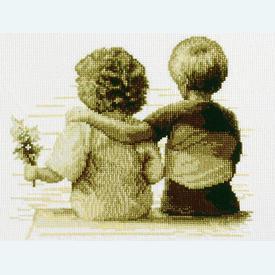 Friends Forever - borduurpakket met telpatroon Vervaco |  | Artikelnummer: vvc-70176