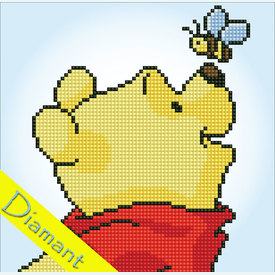 Winnie the Pooh and Bee - Disney - Diamond Painting pakket - Vervaco |  | Artikelnummer: vvc-175276