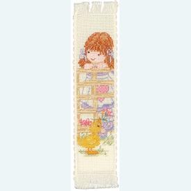 Bladwijzer Popcorn - Candyfloss and Souffle - borduurpakket met telpatroon |  | Artikelnummer: pop-148133