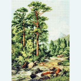 Mountain River - borduurpakket met telpatroon Luca-S |  | Artikelnummer: luca-b522