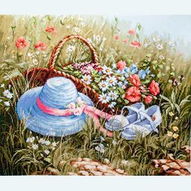 Meadow with Poppies - borduurpakket met telpatroon Luca-S |  | Artikelnummer: luca-bu4020