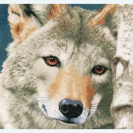 Wolf - borduurpakket met telpatroon Lanarte |  | Artikelnummer: ln-166758