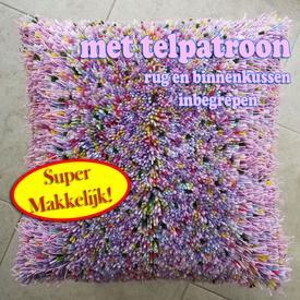 Espiccato Hippi  - knoopkussen met telpatroon | rug + vulkussen inbegrepen | Artikelnummer: nra-21046