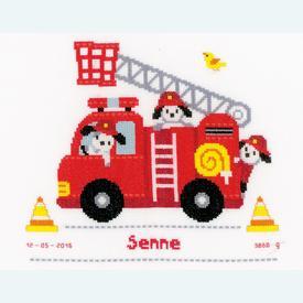 Fire Truck - borduurpakket met telpatroon Vervaco |  | Artikelnummer: vvc-156712
