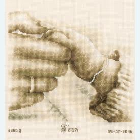 First Tenderness - borduurpakket met telpatroon Vervaco |  | Artikelnummer: vvc-154558