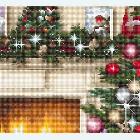 Christmas Interior - borduurpakket met telpatroon Luca-S |  | Artikelnummer: luca-b591
