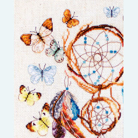 Dreamcatcher - borduurpakket met telpatroon Letistitch |  | Artikelnummer: leti-922