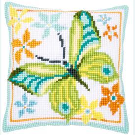 Green Butterfly - Vervaco Kruissteekkussen |  | Artikelnummer: vvc-163342
