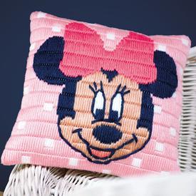 Minnie Mouse - Disney platsteek kussen - Vervaco | Handwerkpakket voor kinderen om zelf te maken | Artikelnummer: vvc-169203
