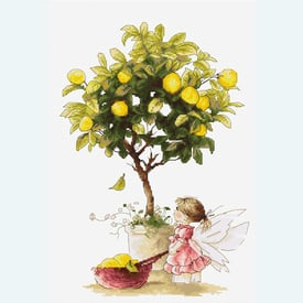 Lemons - borduurpakket met telpatroon Luca-S |  | Artikelnummer: luca-b1111