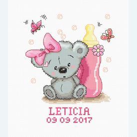 Leticia - geboortepakket met telpatroon Luca-S |  | Artikelnummer: luca-b1147