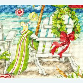 Christmas Beach Chairs - borduurpakket met telpatroon Dimensions |  | Artikelnummer: dim-70.08948