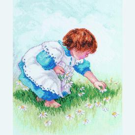 Collecting Daisies - borduurpakket met telpatroon Janlynn |  | Artikelnummer: jl-029.0055