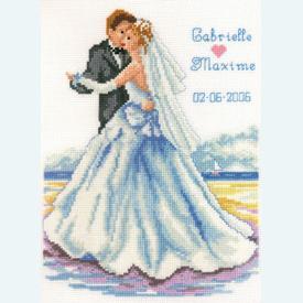Seashore Wedding - kruissteekpakket met telpatroon Vervaco |  | Artikelnummer: vvc-70493
