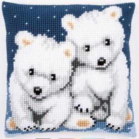 Polar Bears - Vervaco Kruissteekkussen |  | Artikelnummer: vvc-156484