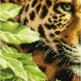 Leopard in Repose - borduurpakket met telpatroon Dimensions |  | Artikelnummer: dim-70-35300