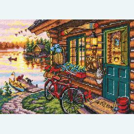 Cabin View - borduurpakket met telpatroon Dimensions |  | Artikelnummer: dim-70-65161