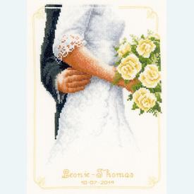 Bridal Bouquet with Roses - kruissteekpakket met telpatroon Vervaco |  | Artikelnummer: vvc-149274