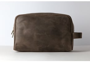 Washbag No 3-1 (L) Dark-Brown