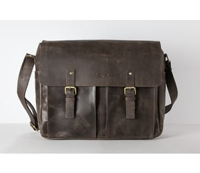 Messenger Bag (M) | Dark-Brown | Artikelnummer: HR-SA-4-1_db