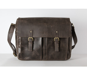Messenger Bag No 4-1 (M) | Dark-Brown | Artikelnummer: HR-SA-4-1_db