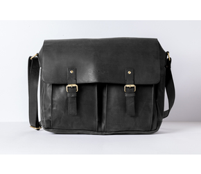 Messenger Bag No 4-1 (M) | Anthracite-Black | Artikelnummer: HR-SA-4-1_b