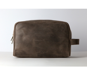 Wash Bag (L)  | Dark-Brown | Artikelnummer: HR-WB-3-1_db
