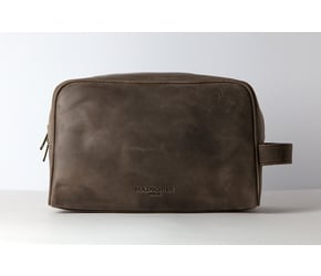 Washbag No 3-1 (L) | Dark-Brown | Artikelnummer: HR-WB-3-1_db
