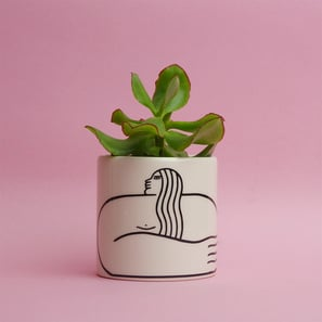 Long Lady Mini Pot | Übertopf von Louise Madzia | Artikelnummer: LM-Long Lady