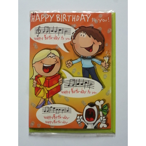 Happy Birthday to you!, Briefkarte | Geburtstagskarten | Artikelnummer: LA4211T