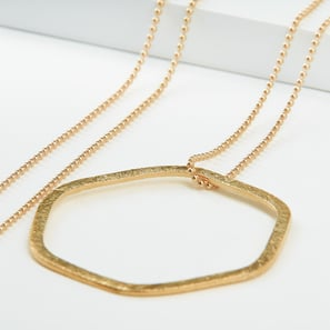 Kette Hexagon Sterlingsilber gold |  | Artikelnummer: nl100hex_gold