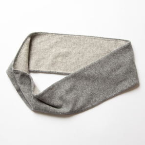 Loop Scarf Two Colours | 100% Cashmere, Colour: Dark Grey Mélange | Code: 0716AS110182X