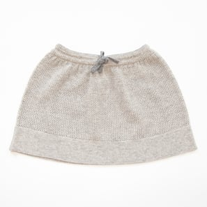 Ajour Skirt | 100% Cashmere, Colour: Light Grey Mélange | Code: 0718BS010181XXX