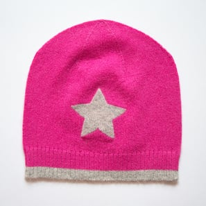 Hat with Star | 100% Cashmere, Colour: Pink | Code: 0715AH010132XXX