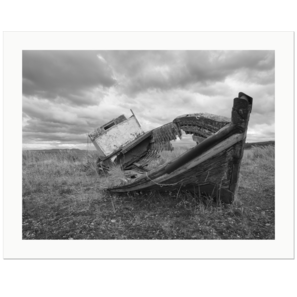 Stranded Boat, Front |  Strait of Magellan, Patagonia, Chile, 2019 | Edition Print 24   unlimitiert | Bildnummer: X1d_190115_016bw-24