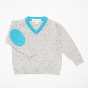 V-Jumper | 100% Cashmere, Colour: Light Grey Mélange | Code: 0117BJ020181XXX