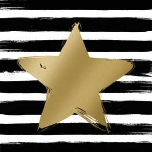 Papier Servietten Star & Stripes black/gold |  | Artikelnummer: 1332298